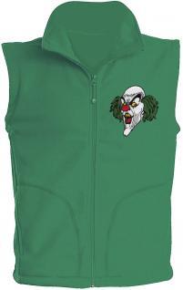 (11536) Karneval Fleece-Weste mit Brust- und Rückenstick, Gr. S- XXL in 4 Farben grün / M