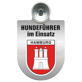 Einsatzschild Windschutzscheibe incl. Saugnapf - Hundeführer im Einsatz - 309381-15 - Region Hamburg