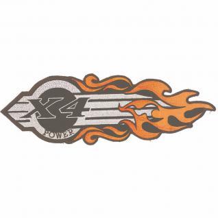 Rückenaufnäher Applikation Patches Aufnäher - X4 Abzeichen Flamme - Gr. ca. 20-30cm (08067) Harley Chopper Bike Trike Jacke Kutte