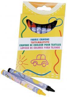 Textil- Wachsmalstifte in 8 Farben - 08864