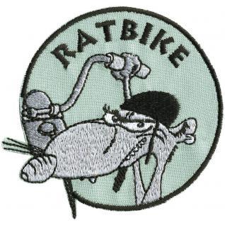 Aufnäher - RATBIKE - 01774 - Gr. ca. 8 cm - Patches Stick Applikation
