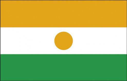 Schwenkfahne mit Holzstock - Niger - Gr. ca. 40x30cm - 77120 - Flagge, Stockländerfahne - Vorschau