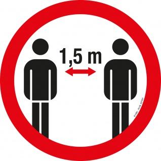 PVC-Aufkleber - Bitte 1, 5 m Abstand halten - Gr. ca. 20cm - 307524