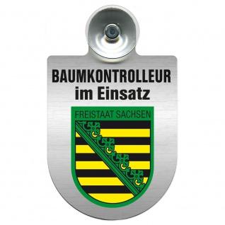 Einsatzschild mit Saugnapf Baumkontrolleur im Einsatz 393806 Region Freistaat Sachsen