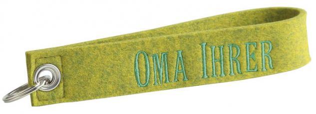 Filz-Schlüsselanhänger mit Stick - Oma Ihrer - Gr. ca. 17x3cm - 14065