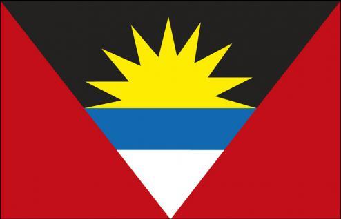 Stockländerfahne - Antigua und Barbuda - Gr. ca. 30x40cm - 77011 - Schwenkflagge