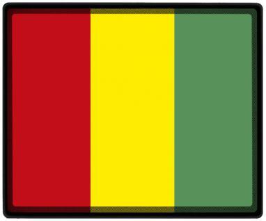 Mousepad Mauspad mit Motiv - Guinea Fahne Fußball Fußballschuhe - 82060 - Gr. ca. 24 x 20 cm