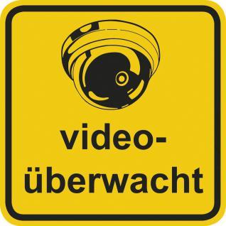 Hinweisschild - videoüberwacht - Gr. ca. 20 x 20 cm - 308810/1 - Vorschau