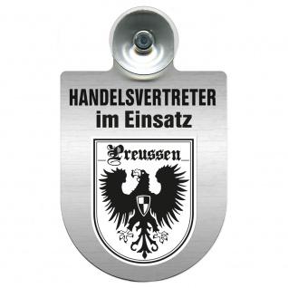Einsatzschild Windschutzscheibe incl. Saugnapf - Handelsvertreter im Einsatz - 309367 Region Preussen