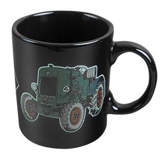 Tasse mit Print Traktor grün 57421