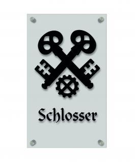 Zunftschild Handwerkerschild - Schlosser - beschriftet auf edler Acryl-Kunststoff-Platte ? 309410 schwarz