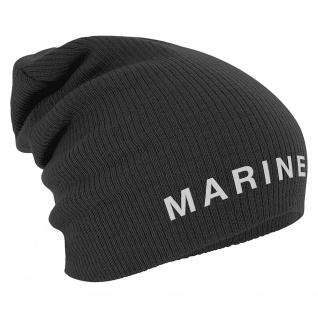 Longbeanie Slouch-Beanie Mütze Marine 55209