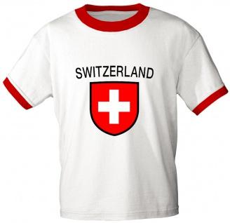 T-Shirt mit Print - Schweiz - 76444 - weiß - Gr. L
