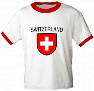 T-Shirt mit Print - Schweiz - 76444 - weiß - Gr. M