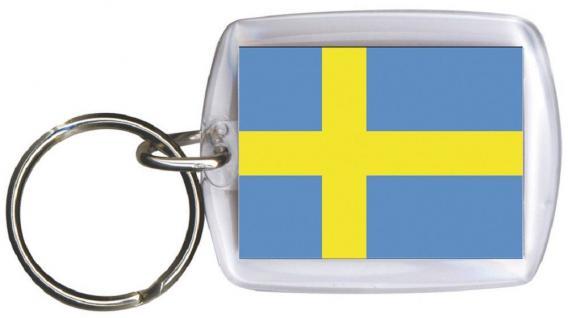 Schlüsselanhänger Anhänger - SCHWEDEN - Gr. ca. 4x5cm - 81162 - Keyholder WM Länder