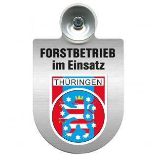 Einsatzschild Windschutzscheibe incl. Saugnapf - Forstbetrieb im Einsatz - 309374-13 - Region Thüringen - Vorschau