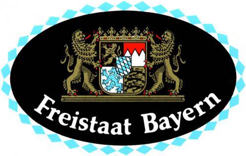 Auto-Aufkleber - Freistaat Bayern - Gr. ca. 13, 5 x 8, 5cm (301439) Wappen Landeszeichen Flagge