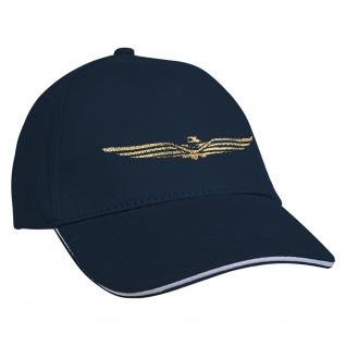 Baseballcap mit Einstickung Military Abzeichen 68219 Navy