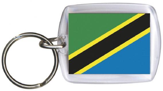 Schlüsselanhänger Anhänger - TANSANIA - Gr. ca. 4x5cm -81166 - Keyholder WM Länder