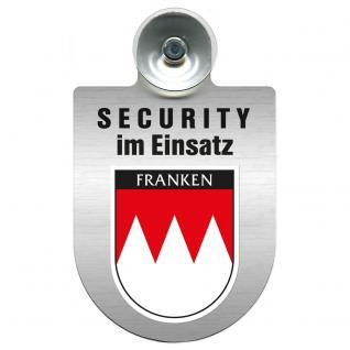 Einsatzschild Windschutzscheibe - Security im Einsatz - incl. Regionen nach Wahl - 309350 Region Franken