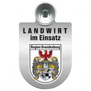 Einsatzschild Windschutzscheibeincl. Saugnapf - Landwirt im Einsatz - 309369 - Region Brandenburg
