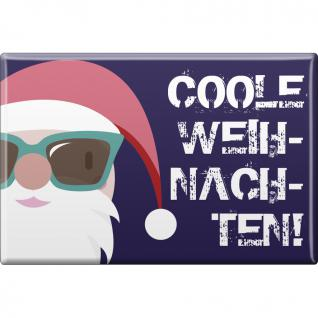 Kühlschrankmagnet - Weihnachten - Coole Weihnachten - Gr. ca. 8 x 5, 5 cm - 38235 - Magnet Küchenmagnet - Vorschau 1