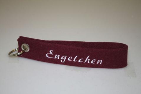 Filz-Schlüsselanhänger mit Stick - Engelchen - Gr. ca. 17x3cm - 14407
