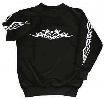 Sweatshirt mit Print - Tattoo - 09073 - versch. farben zur Wahl - schwarz / M