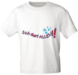 Kinder T-Shirt mit Aufdruck - Ich darf alles - 06981 - weiß - Gr. 86-164