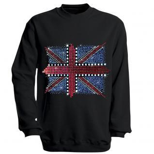 Sweatshirt mit Print - Union Jack - schwarz - S12895 - Gr. S