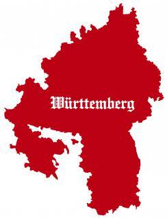 "PVC- Applikations- Aufkleber "" Württemberg"" 25 cm groß in 8 Farben AP3992 rot"