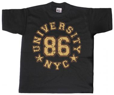 T-SHIRT mit Print - University NYC New York City - 09504 schwarz - S