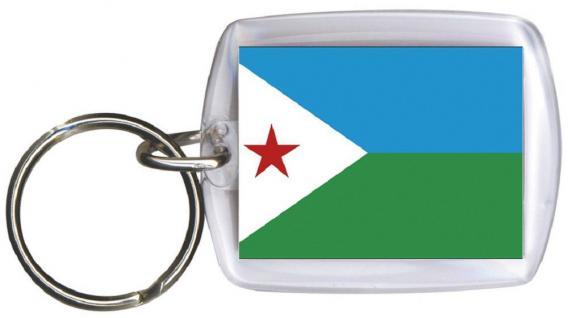 Schlüsselanhänger - DSCHIBUTI - Gr. ca. 4x5cm - 81043 -WM Länder