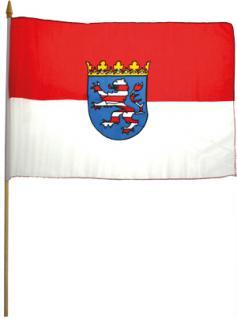 Schwenk-Fahne - THÜRINGEN - Gr. ca. 40x30cm - 07608 - Fahne mit Holzstab - Flagge