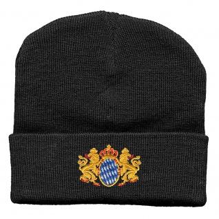 Hip-Hop Mütze Wappen Bayern Wappen Emblem 51258 schwarz