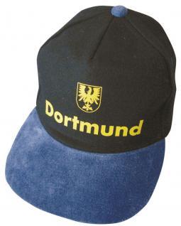 Baseball-Cap mit gr. Stickerei - Dortmund Adler gelb schwarz - 68889 schwarz blau - Baumwollcap Cappy Baseballcap Schirmmütze