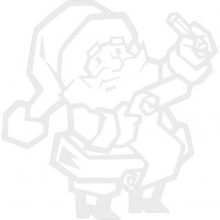 Wandtattoo Dekorfolie - Weihnachtsmann - AP1038 - weiß / 120cm
