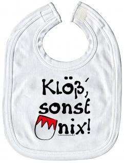 Babylätzchen mit Print - Klö?sonst nix - 08448 weiß