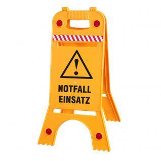 Warnaufsteller - Achtung Notfall Einsatz - Gr. ca. 62cm x 24, 5cm - 308538/1