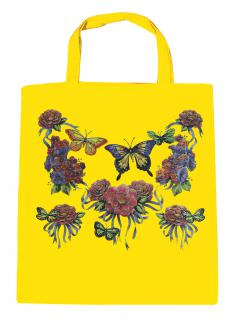 (U09943)Umweltfreundliche Baumwoll - Tasche , ca. 28 x 43 cm mit Aufdruck in 7 Farben gelb