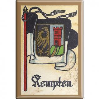 Küchenmagnet - Wappen Kempten - Gr. ca. 8 x 5, 5 cm - 37533 - Magnet Kühlschrankmagnet