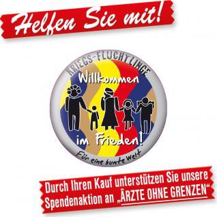 """(16275) Button """" Willkommen im Frieden"""" Magnet"""