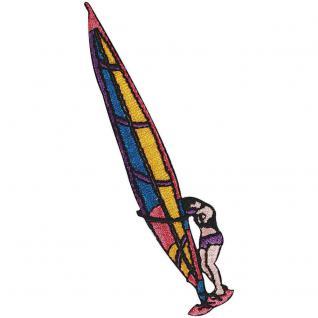 Aufnäher - Surfer - 04687 - Gr. ca. 2, 5 x 10, 5 cm - Patches Stick Applikation