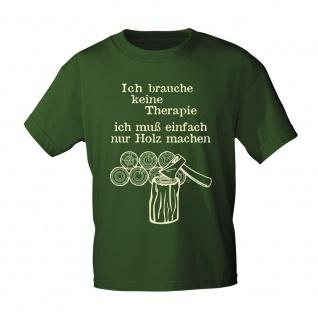 T-Shirt mit Print Ich brauche keine Therapie.... 09441 Gr. M / oliv
