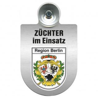 Einsatzschild Windschutzscheibe incl. Saugnapf - Züchter im Einsatz - 309384 Region Berlin