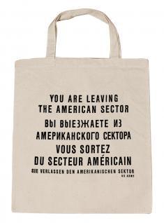 (10687-Tasche) Umweltfreundliche Baumwoll - Tasche , ca. 28 x 43 cm mit Aufdruck? Berlin?