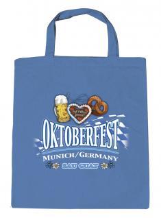 Umweltfreundliche Baumwolltasche - Oktoberfest München - 08905 royalblau - Bag Cotton