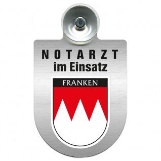 Einsatzschild Windschutzscheibe incl. Saugnapf - Notarzt im Einsatz - 309353 Region Franken