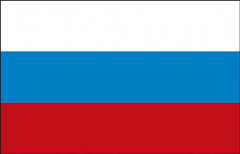 Schwenkfahne mit Holzstock - Russland - Gr. ca. 40x30cm - 77135 - Länderflagge, Fahne, Stockländerfahne