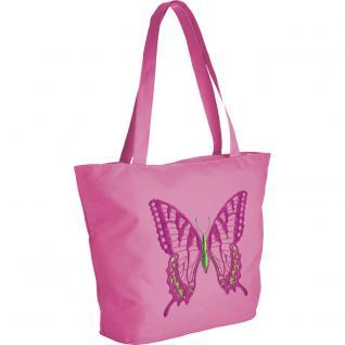 Modische Lifestyle- Tasche mit Motiv- Stickerei - Schmetterling - 08956 - Shopper Ticiana Montabri - Vorschau